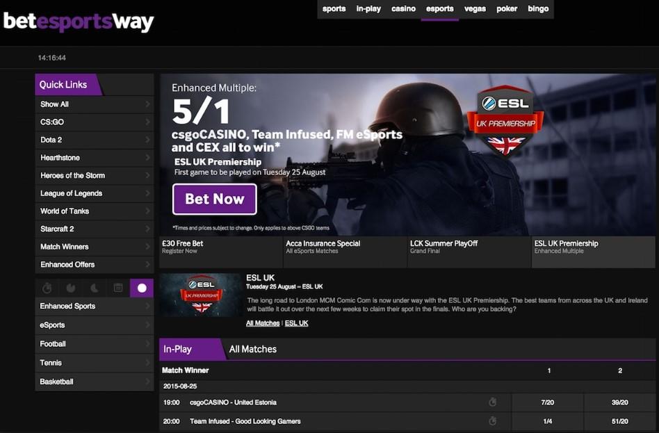 eSports Betway