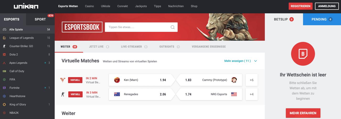 Unikrn Esports Betting Site